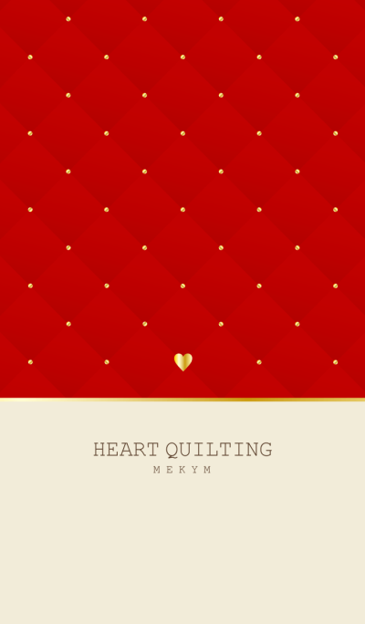 HEART QUILTING -RED-