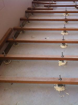 再生木デッキの施工写真