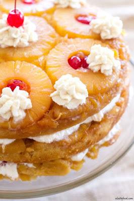 http://www.alattefood.com/triple-layer-pineapple-upside-down-cake/