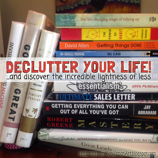 5 best books on productivity and organization | declutter your life http://schulmanart.blogspot.com/2015/12/declutter-your-life-5-best-books-on.html