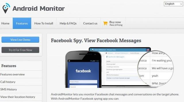برنامج AndroidMonitor  لتهكير الفيسبوك