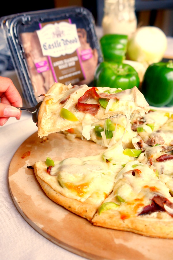 This Philly Cheese Steak Pizza is a quick and easy recipe that makes ...