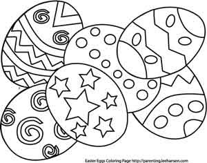 easter coloring eggs pages