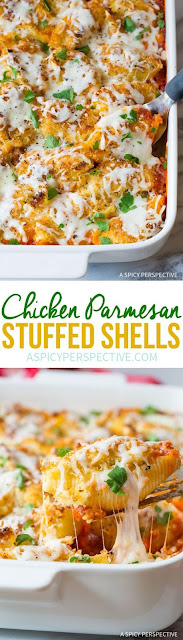 Chícken Parmesan Stuffed Shells