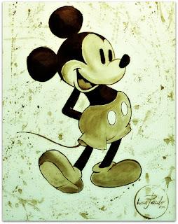 Mickey Mouse - Pintura em Café - Luís Paulo, Guaíba