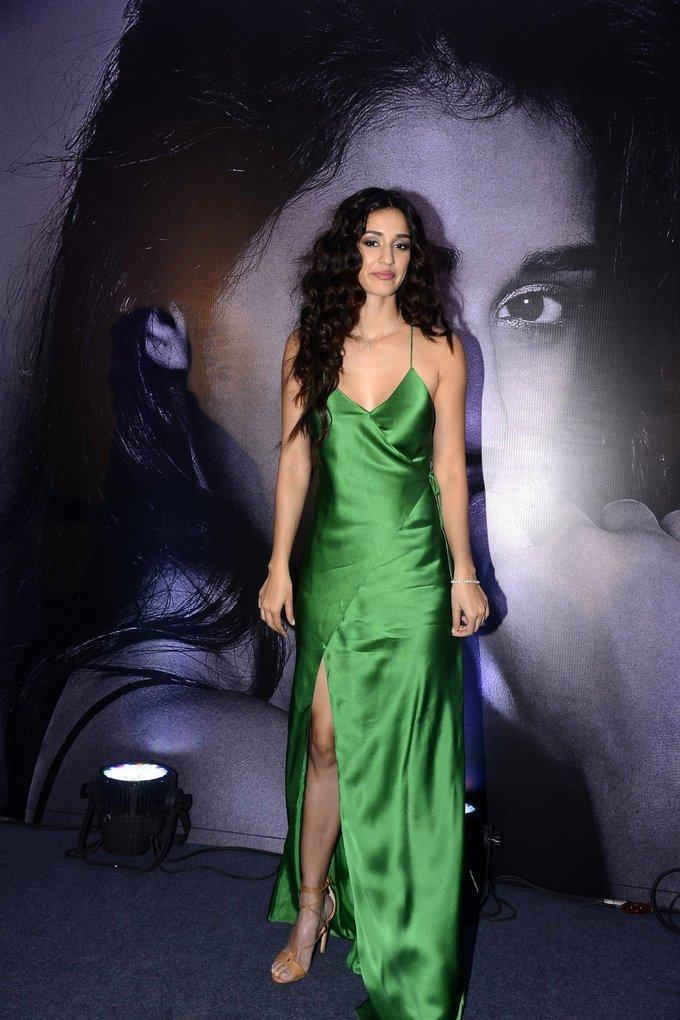 Indian Actress Sizzling Photos In Green Dress Disha Patani
