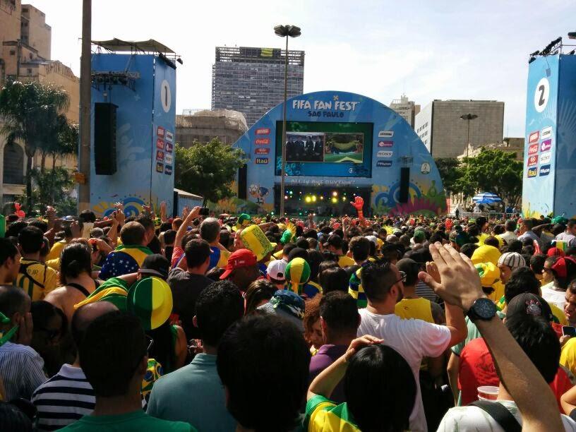Fan Fest São Paulo - Copa do Mundo Brasil 2014 - Brasil X Chile