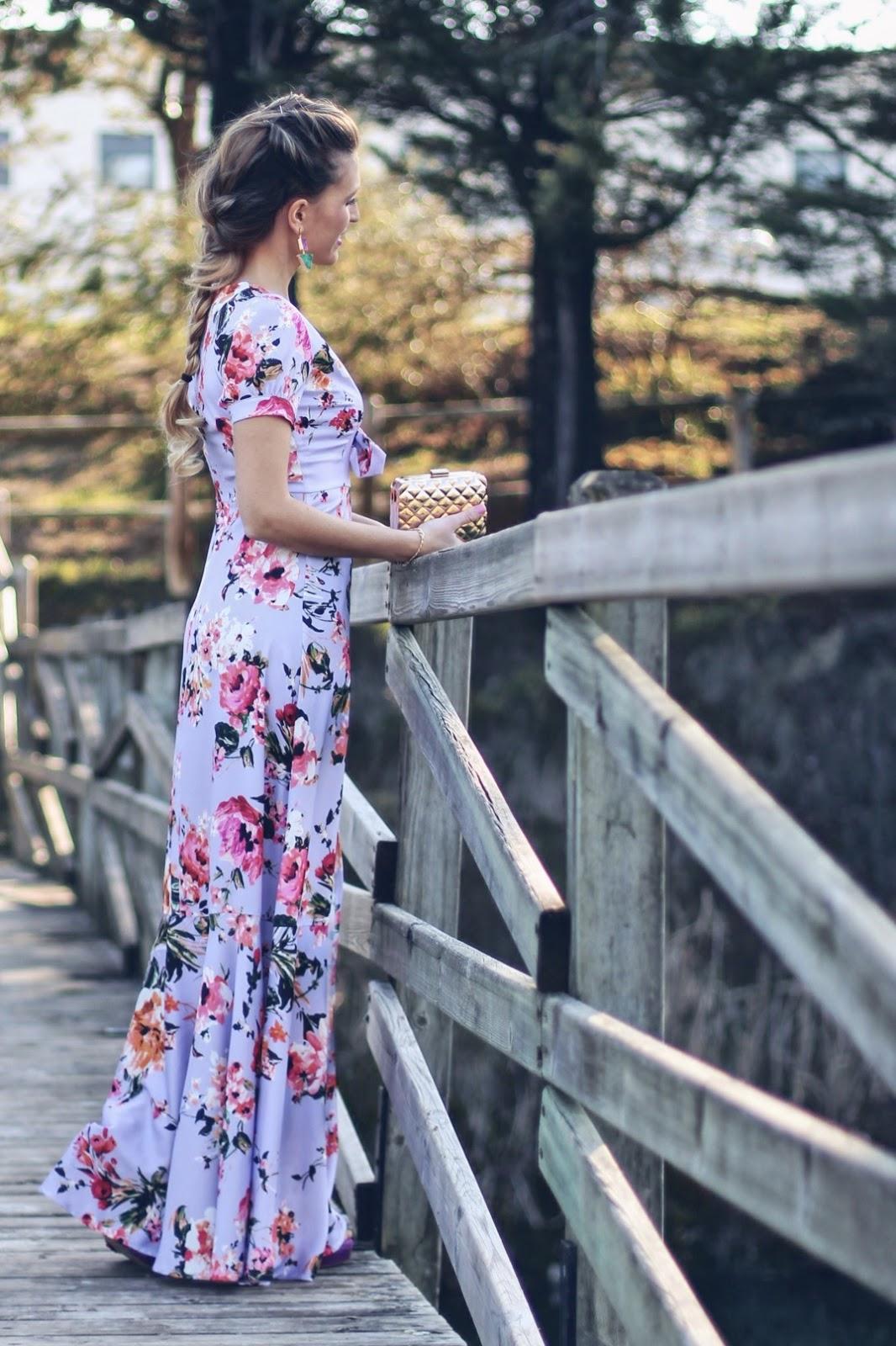 vestido invitada largo flores