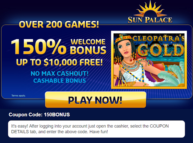 Sun Palace Casino Welcome Bonus