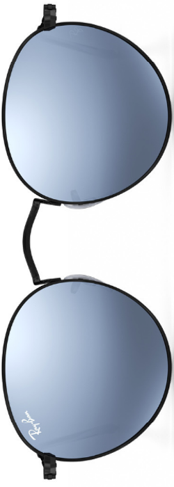 Ray-Ban Round Metal Silver Flash