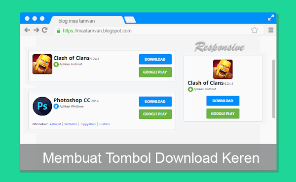 tombol download di blog keren