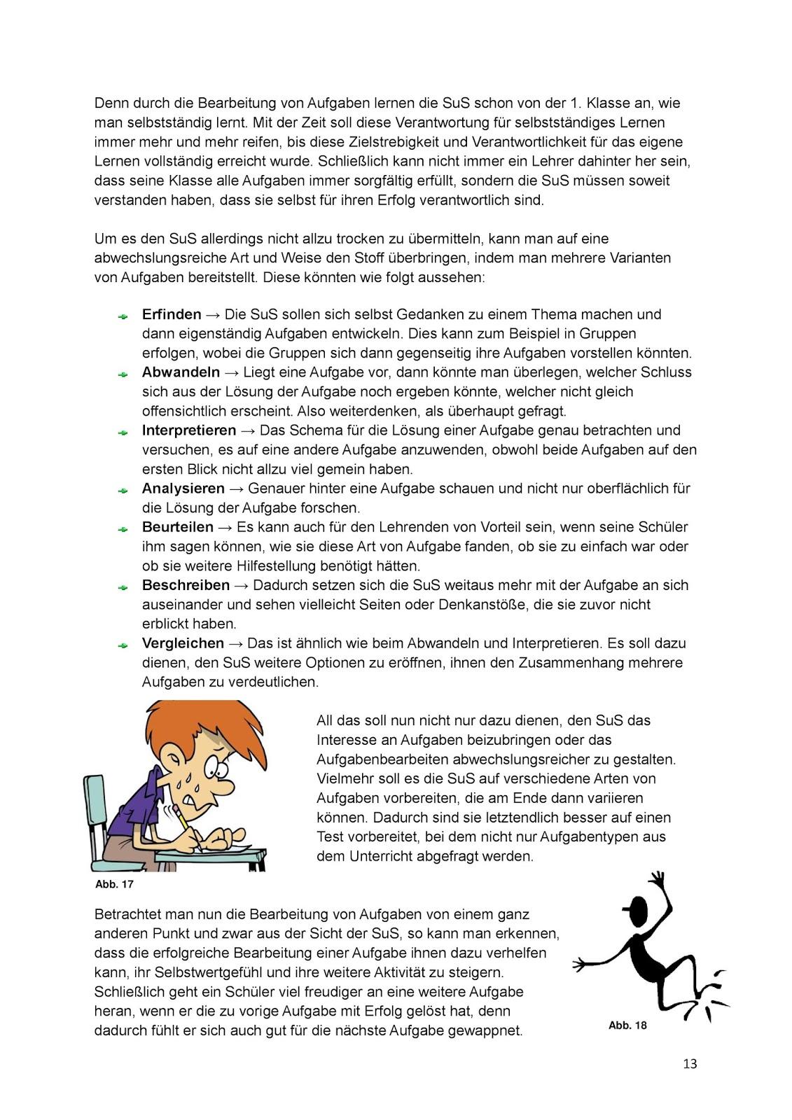 Einführung in die Fachdidaktik: Aufgaben im Biologieunterricht