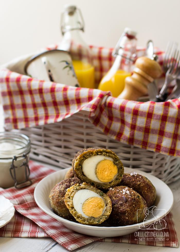 Falafele a'la jajka po szkocku (wegetariańskie jajka po szkocku)