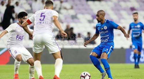 النصر يفرض التعادل الاجابي على نادي العين في الجولة 11 من دوري الخليج العربي الاماراتي