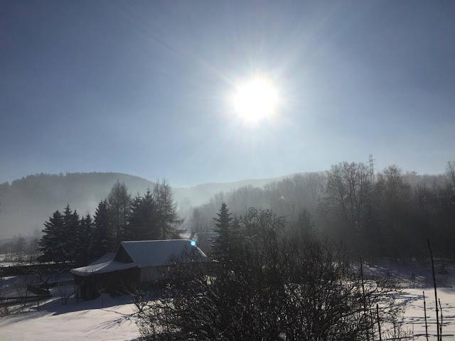 sudety, widok z okna, z widokiem na góry