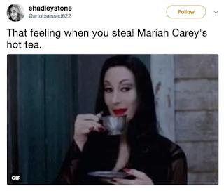 Mariah Carey New Years Meme Hot Tea
