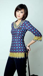 Model Atasan Baju Batik Pramugari Terbaru