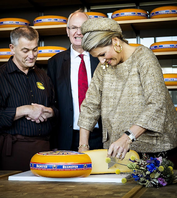 Queen Maxima of The Netherlands opens the Lustrum Beursvloer