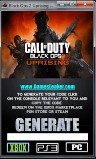 black ops 2 uprising dlc ps3 redeem code generator