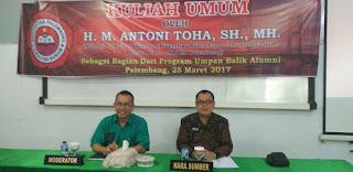 FH Universitas Palembang Gelar Kuliah Umum