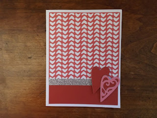 CTMH Heart Card With Shimmer Trim