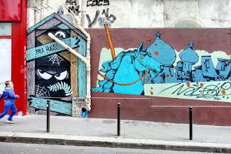 Sunday Street Art : Retro - rue Jean-Baptiste Dumay - Paris 20