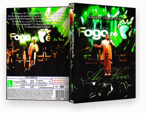 CAPA DVD – Ministerio Fogo No Pé Lodebar Nunca Mais – ISO