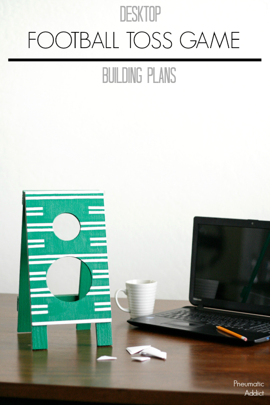 Desktop sized Football Toss building plans