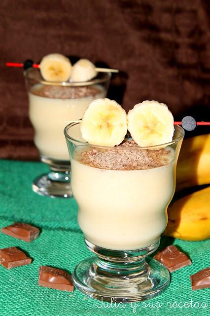Batido de plátano y mango. Julia y sus recetas