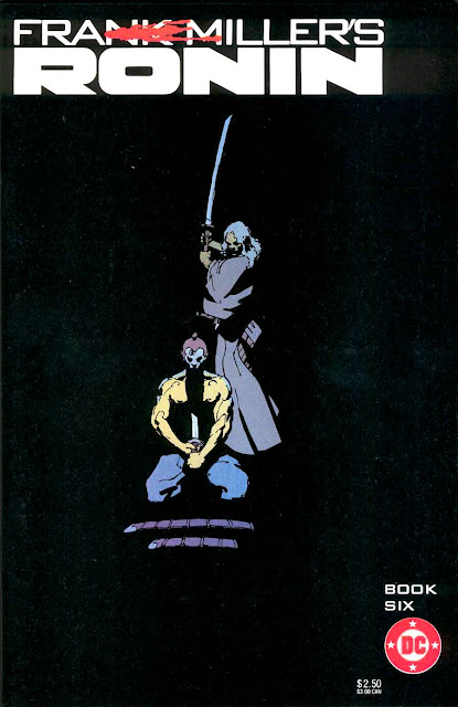 Ronin v1 #6 dc comic book cover art by Frank Miller