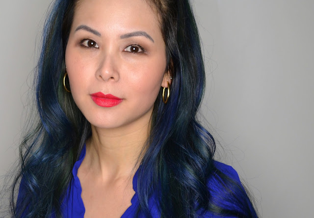 Charlotte Tilbury  Blue Hair Makeup Look