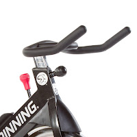 Micro-adjustable resistance knob & push-down brake on Spinner S5 and Spinner S3 spin bikes