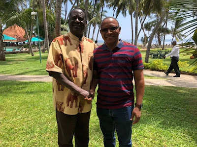 Raila and Kingi in Mombasa. PHOTO| FILE