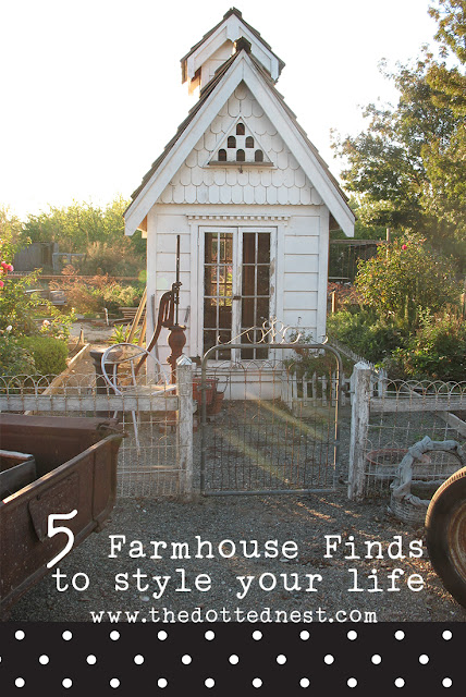 Dotting your life with the details, 5 Farmhouse Finds to Style Your Life