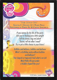 My Little Pony The Goof Off Series 3 Trading Card