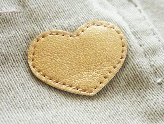 empiècement coeur doré sur jean slim fit kaki kiabi petite fille