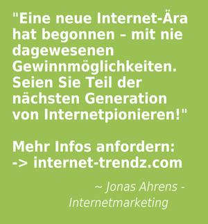 Eine neue Ära hat begonnen. Profitiere am größten Wachstumsmarkt der Welt, dem Internet!