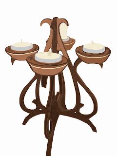 realizzare-candelabro-in-legno-fai-da-te