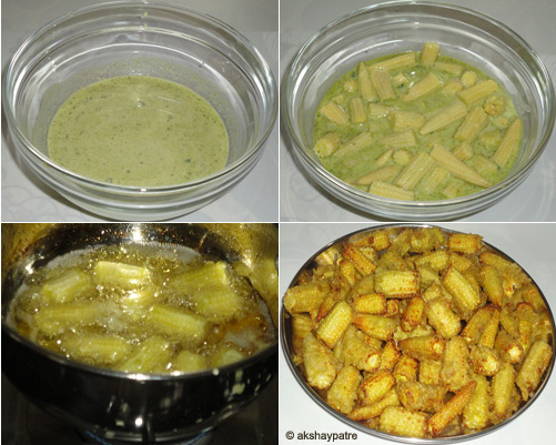 Baby corn manchurian recipe -step 2