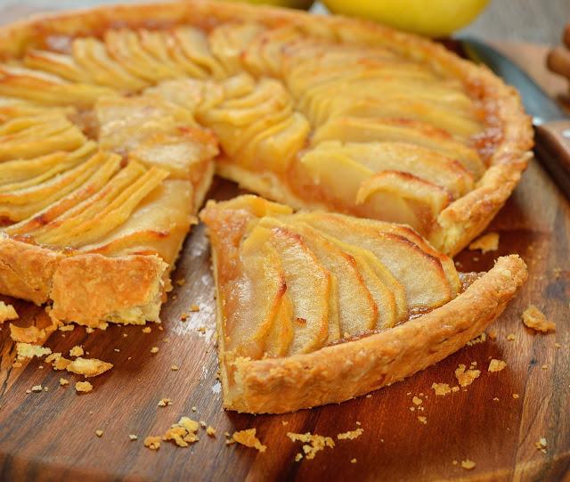 Tarta de manzana en el microondas