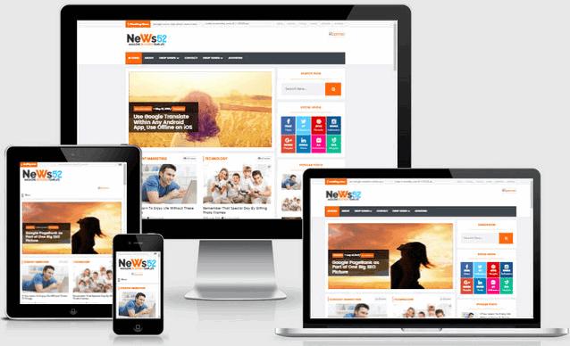 News52 Responsive Magazine Blogger Templates