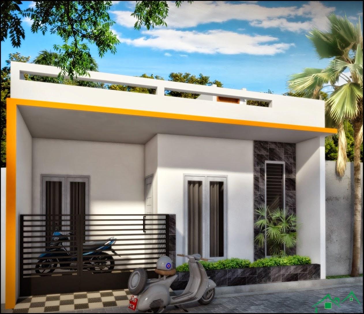 Desain Rumah Mungil Type 45 Architectaria | Huniankini