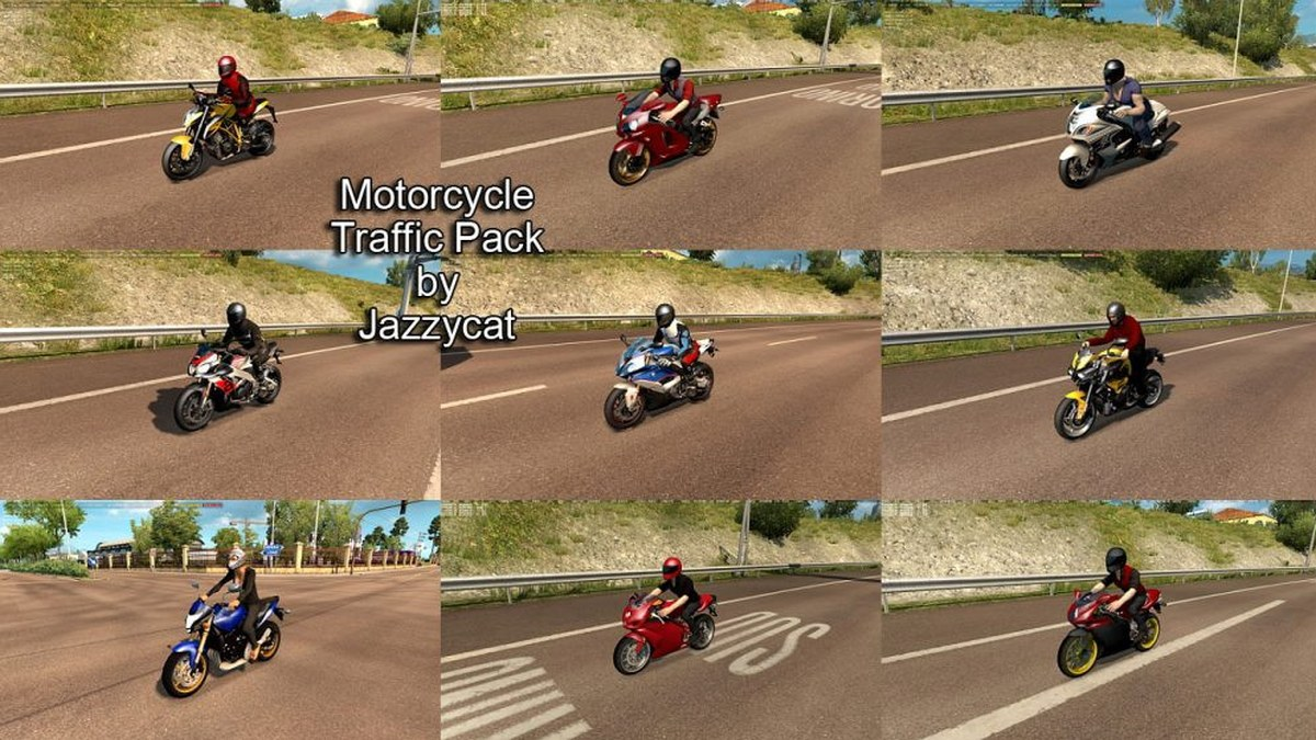 Jazzycat – Motorcycle Traffic Pack v 1.1