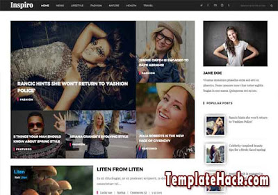 inspiro fixed blogger template