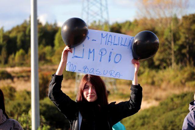 Protesta en Maullín por llegada de basura desde Chiloé