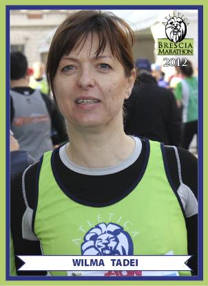 BRESCIA MARATHON: AUGURI WILMA