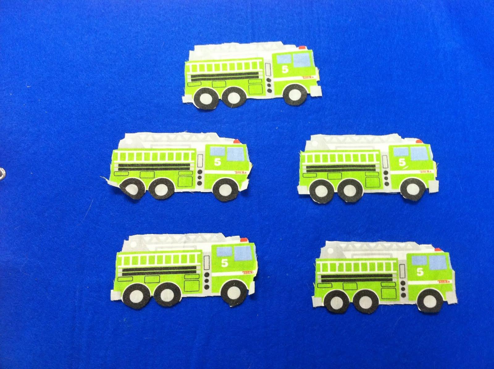 5 Little Fire Trucks
