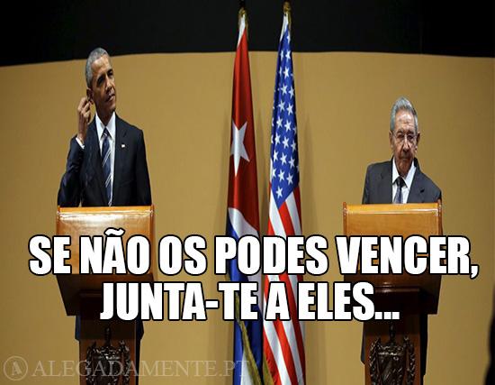 Imagem de Barack Obama e Raul Castro – Se não os podes Vencer, junta-te a eles!
