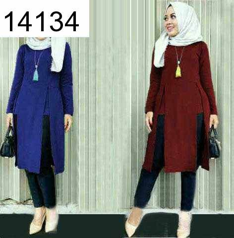 Jual Blouse Mashel Long Top - 14134