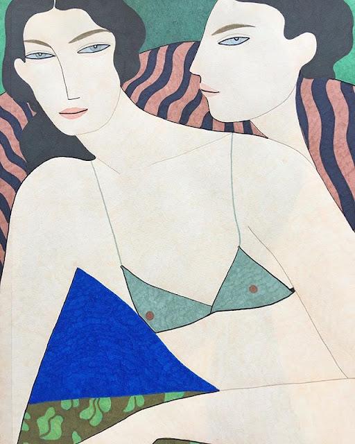 Kelly Beeman arte | dibujo en acuarela de mujeres elegantes